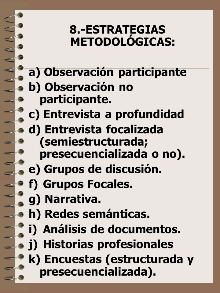 8.-ESTRATEGIAS METODOLÓGICAS: