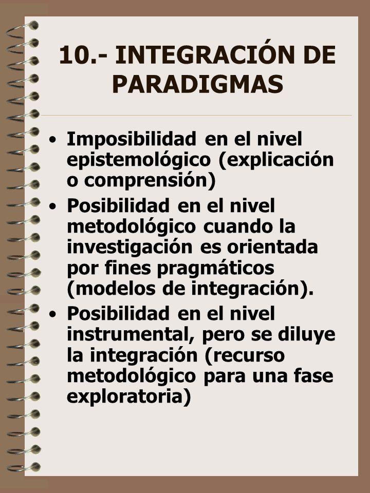 10.- INTEGRACIÓN DE PARADIGMAS