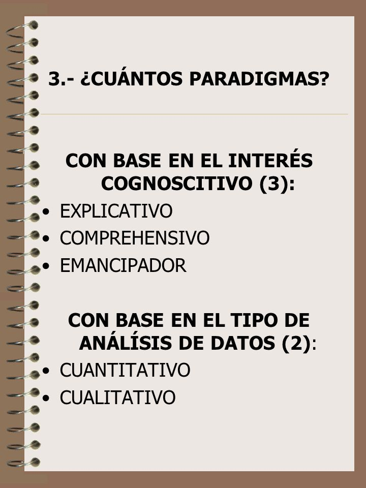 CON BASE EN EL INTERÉS COGNOSCITIVO (3):