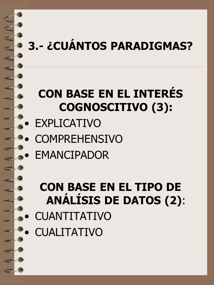 CON BASE EN EL INTERÉS COGNOSCITIVO (3):