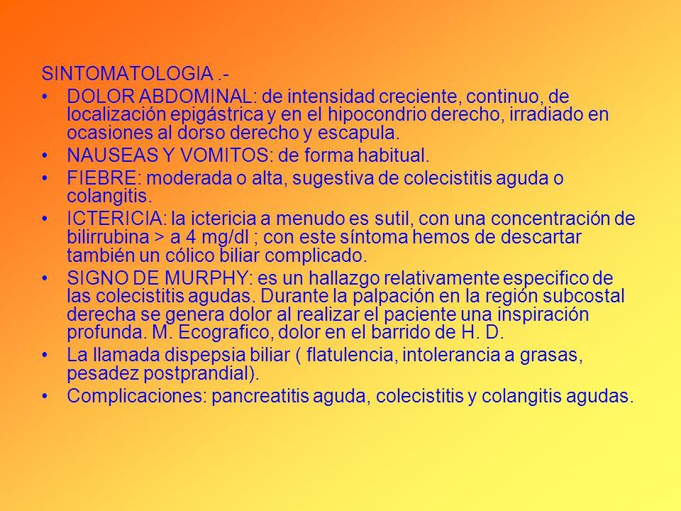 SINTOMATOLOGIA .-