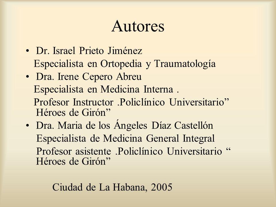 Autores Dr. Israel Prieto Jiménez