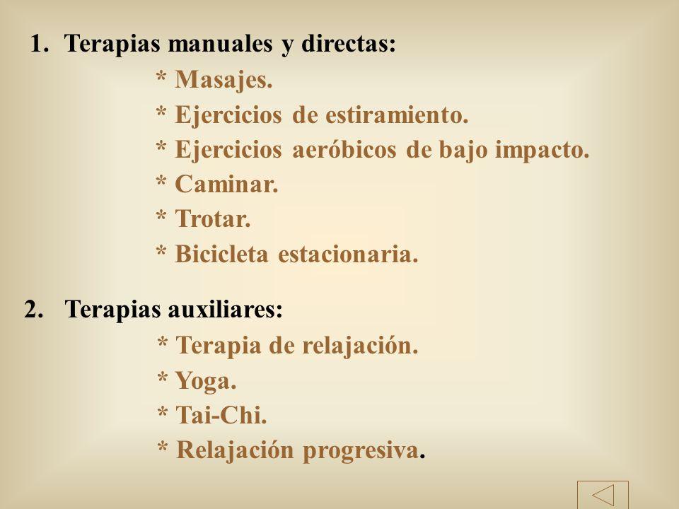 Terapias manuales y directas: