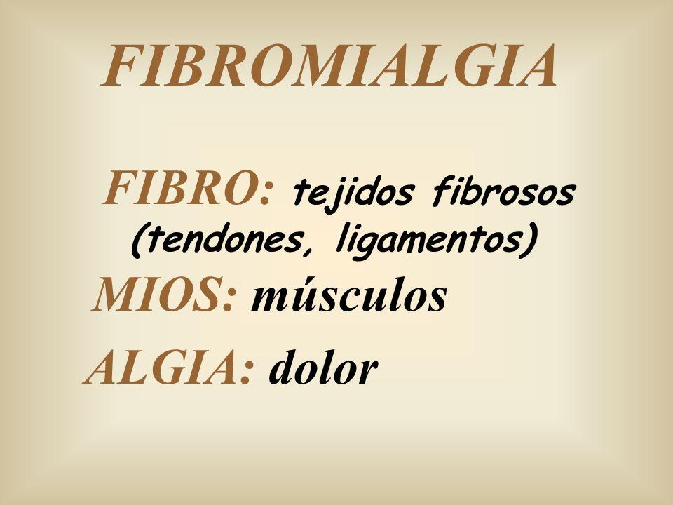 FIBRO: tejidos fibrosos (tendones, ligamentos)
