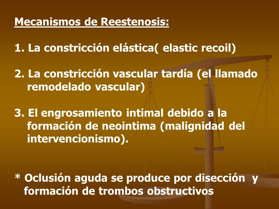 Mecanismos de Reestenosis: