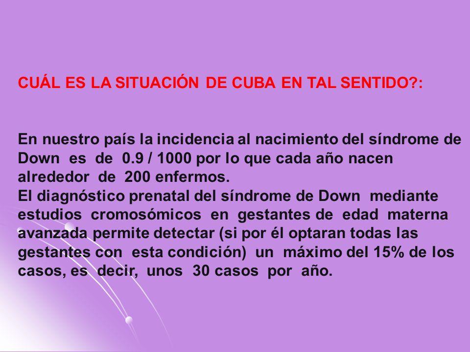 CUÁL ES LA SITUACIÓN DE CUBA EN TAL SENTIDO :