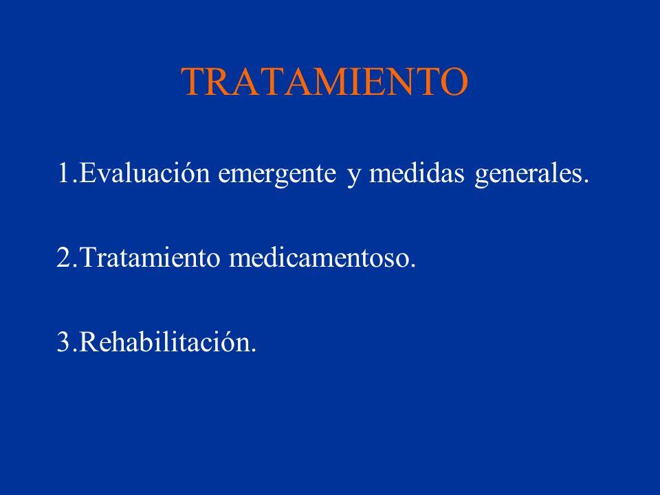 TRATAMIENTO 1.Evaluación emergente y medidas generales.