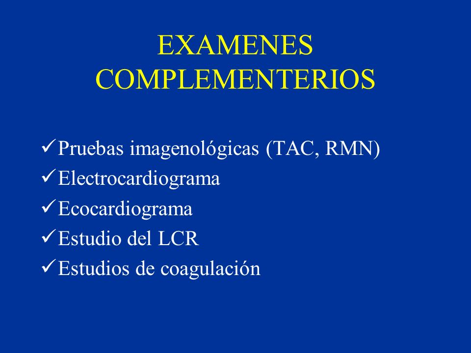 EXAMENES COMPLEMENTERIOS