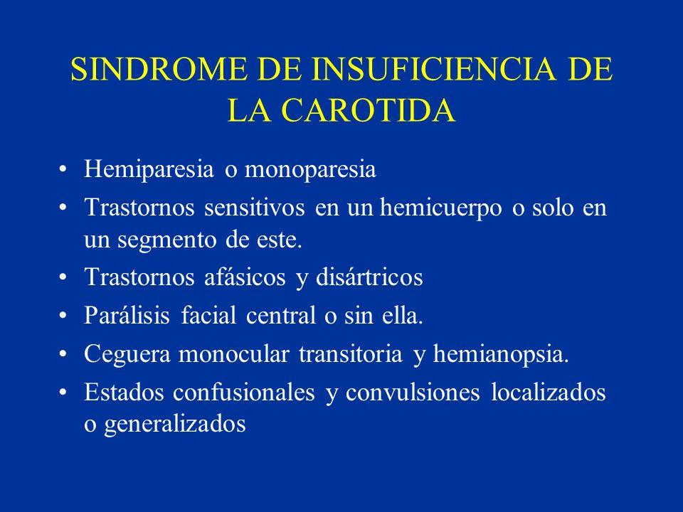SINDROME DE INSUFICIENCIA DE LA CAROTIDA