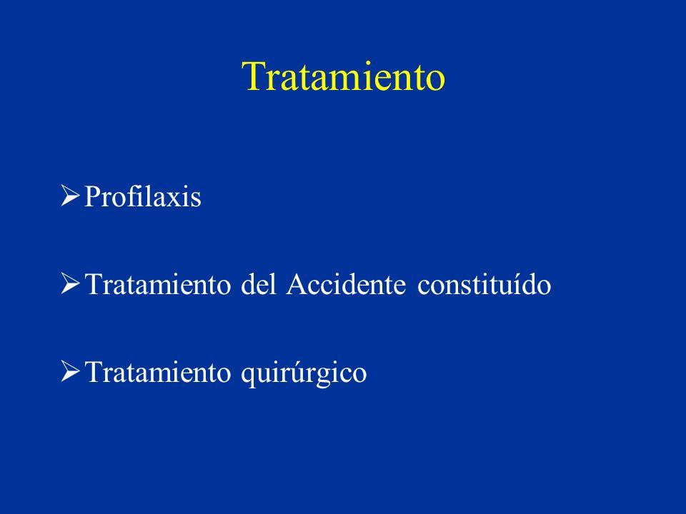 Tratamiento Profilaxis Tratamiento del Accidente constituído
