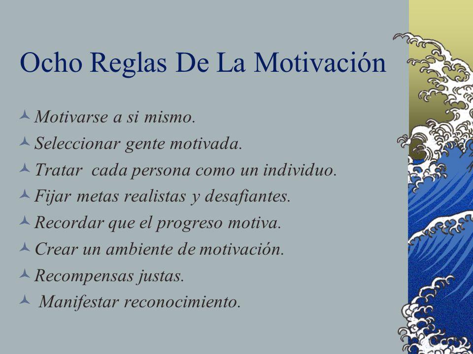 Ocho Reglas De La Motivación