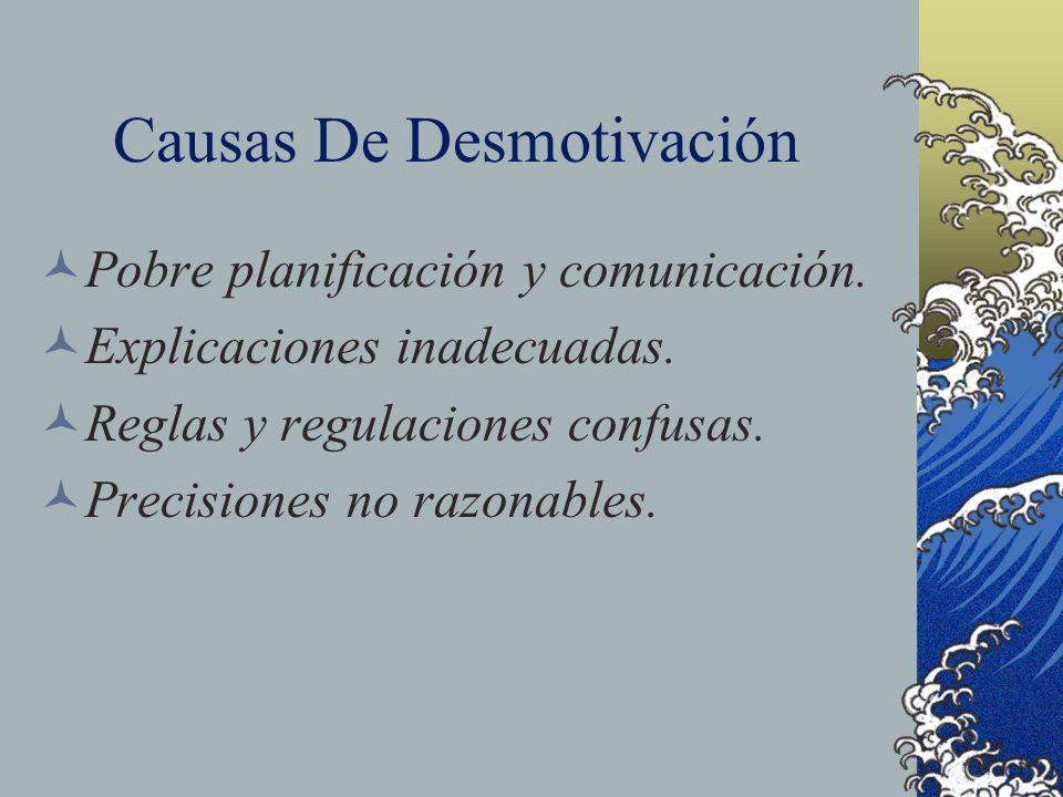 Causas De Desmotivación