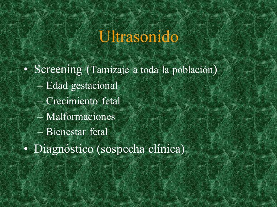 Ultrasonido Screening (Tamizaje a toda la población)