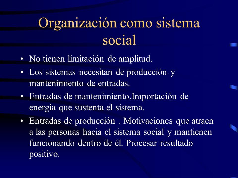 Organización como sistema social