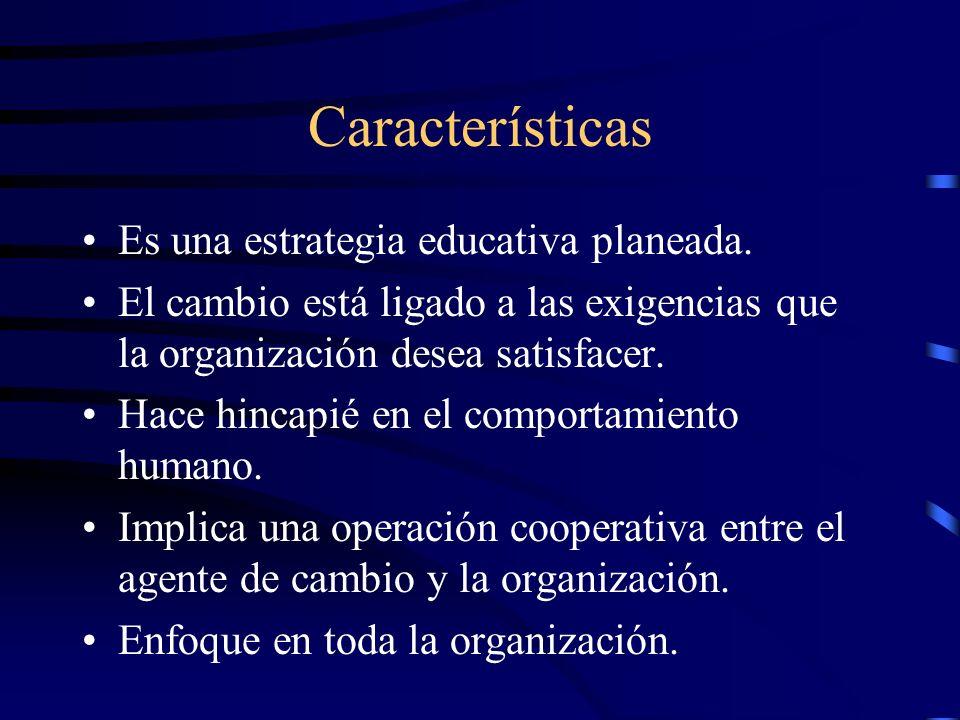 Características Es una estrategia educativa planeada.