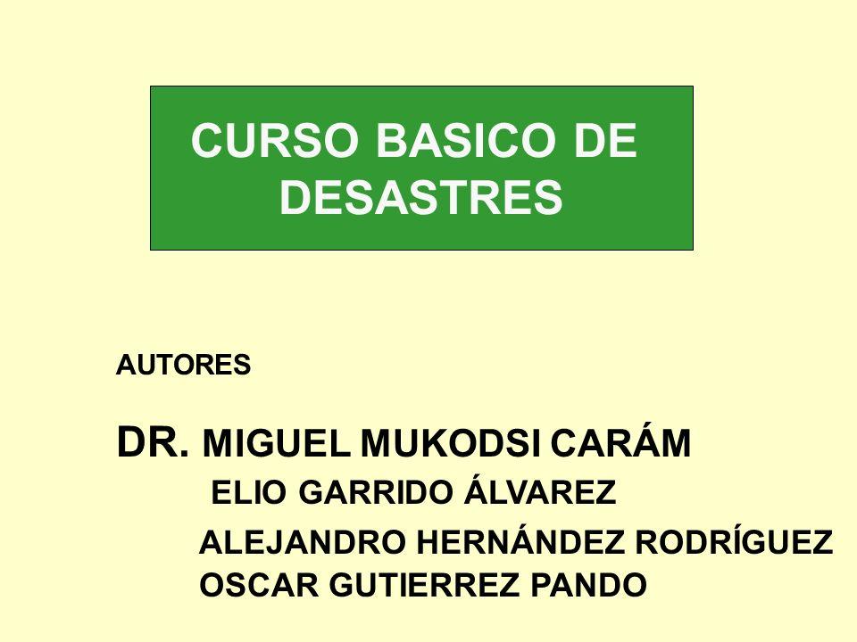 CURSO BASICO DE DESASTRES