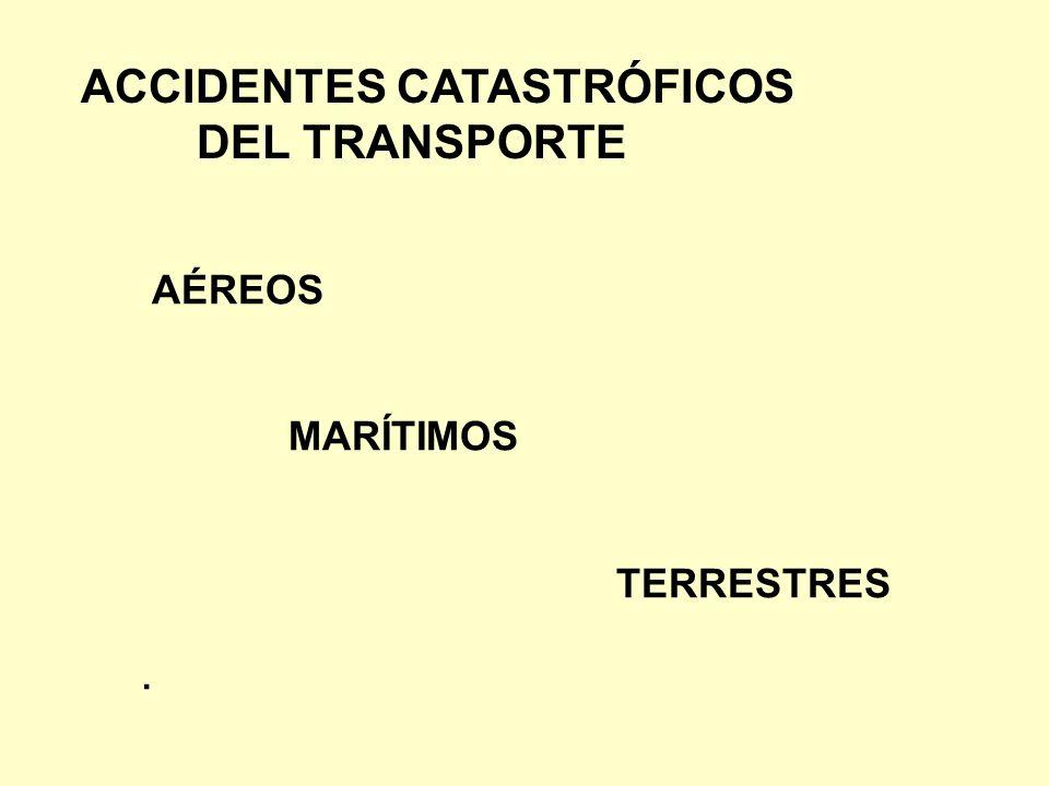 ACCIDENTES CATASTRÓFICOS DEL TRANSPORTE