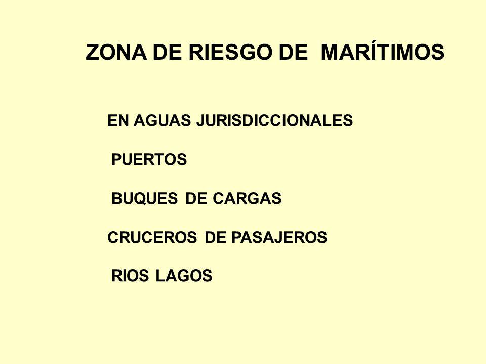 ZONA DE RIESGO DE MARÍTIMOS