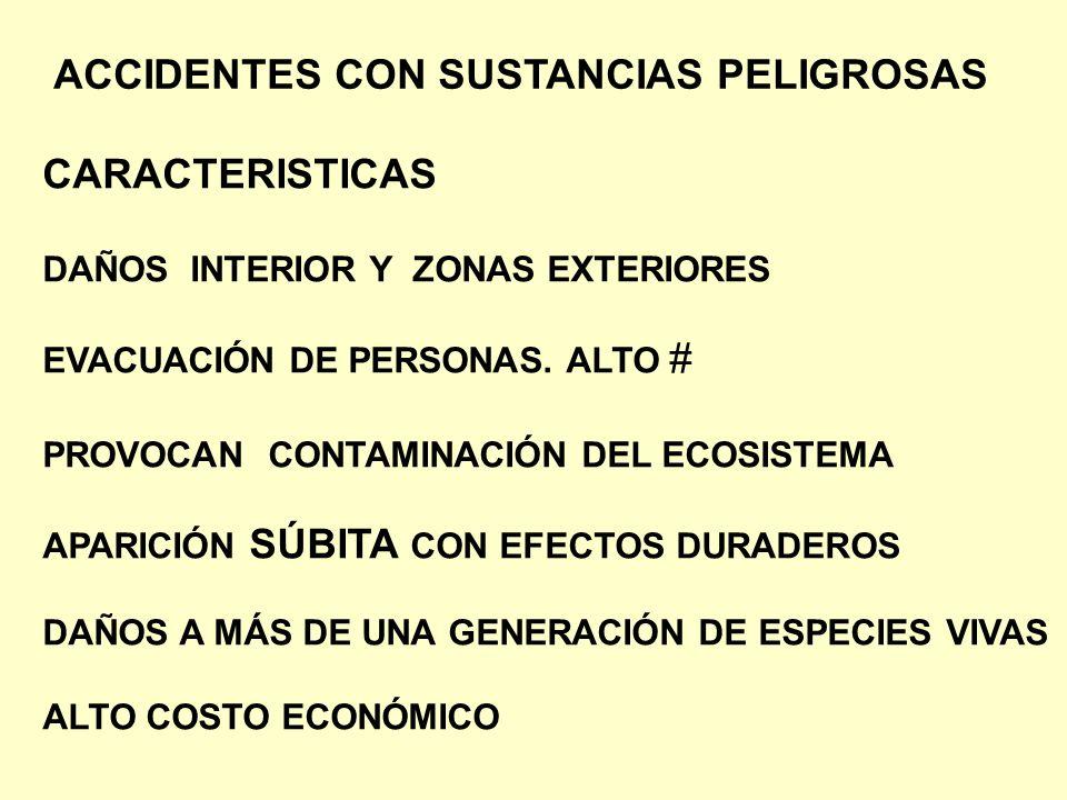 ACCIDENTES CON SUSTANCIAS PELIGROSAS