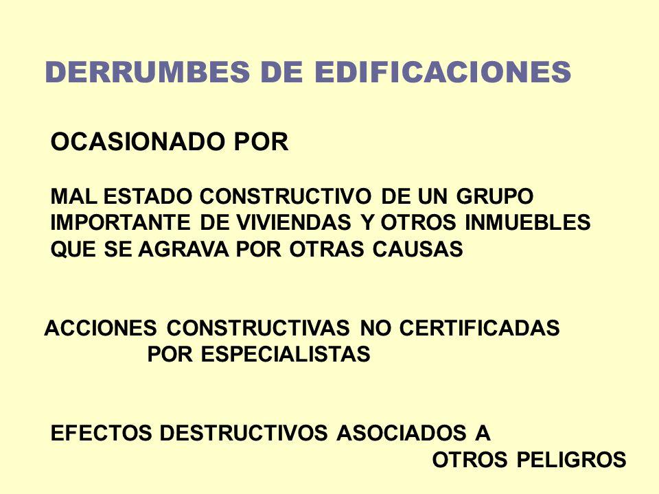 DERRUMBES DE EDIFICACIONES