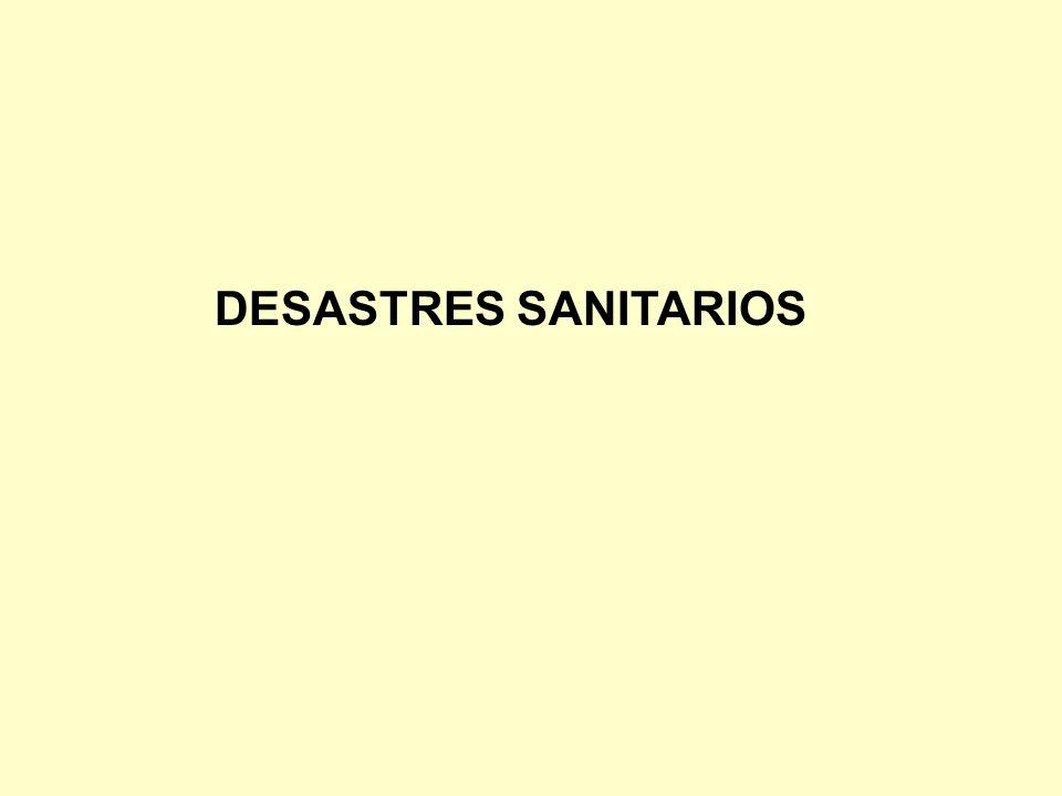 DESASTRES SANITARIOS
