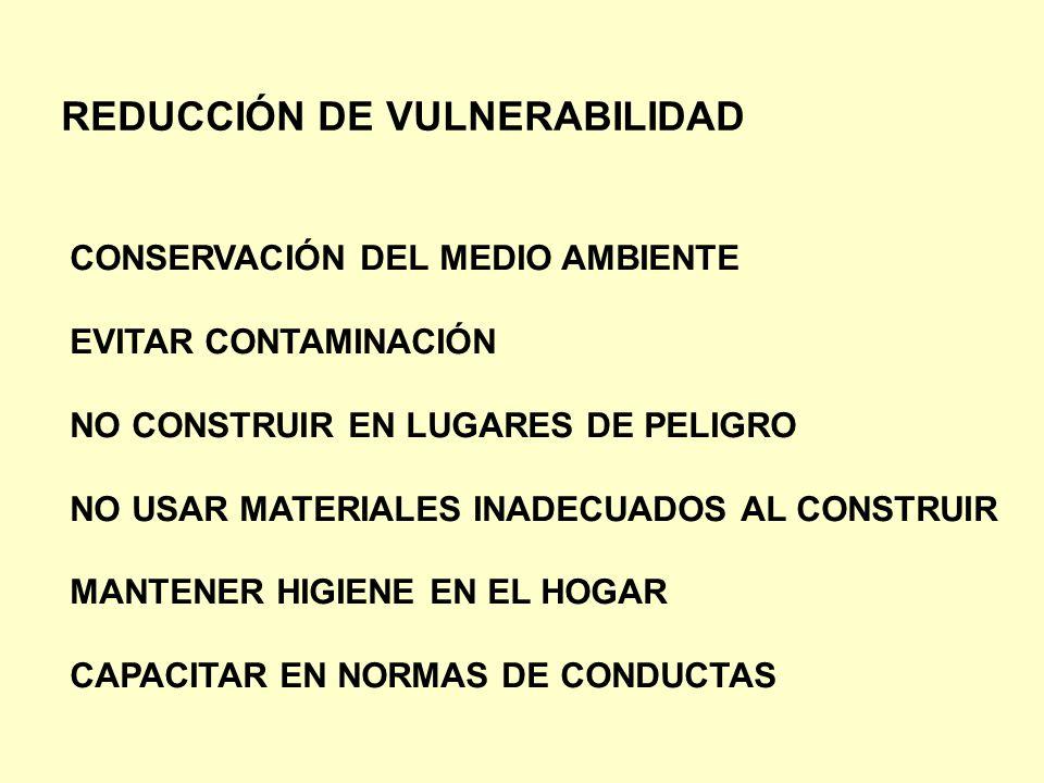REDUCCIÓN DE VULNERABILIDAD