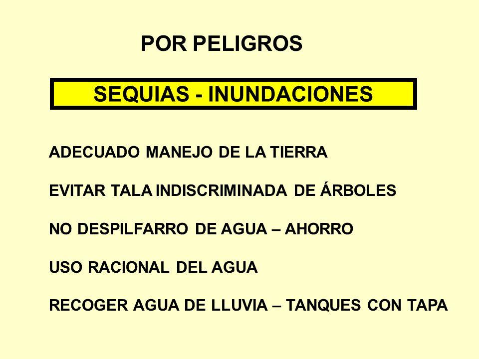 SEQUIAS - INUNDACIONES