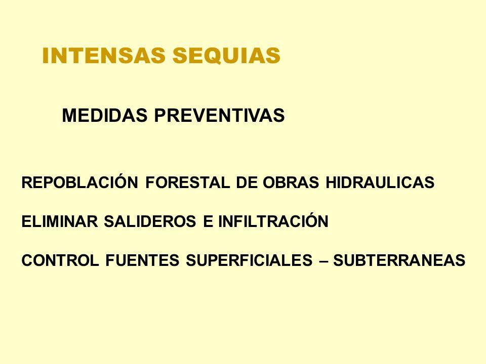INTENSAS SEQUIAS MEDIDAS PREVENTIVAS