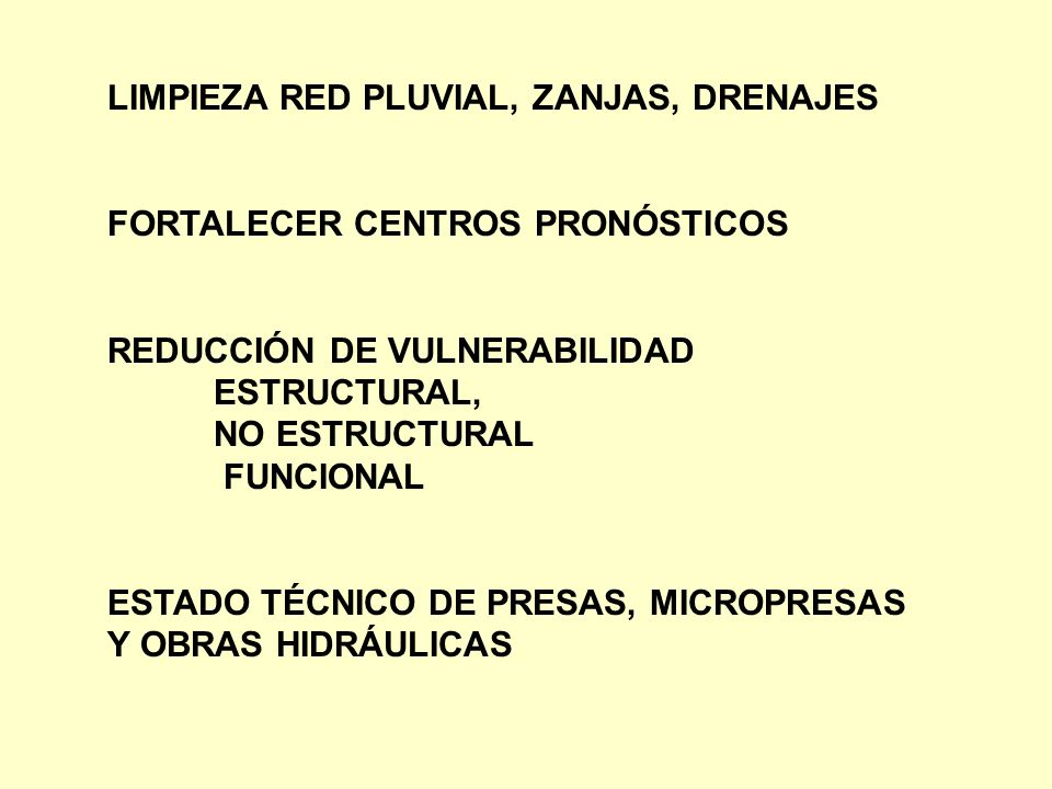 LIMPIEZA RED PLUVIAL, ZANJAS, DRENAJES