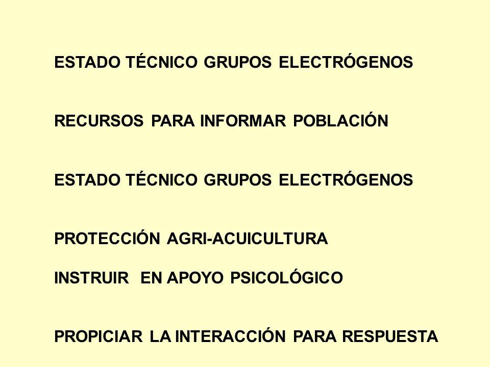 ESTADO TÉCNICO GRUPOS ELECTRÓGENOS