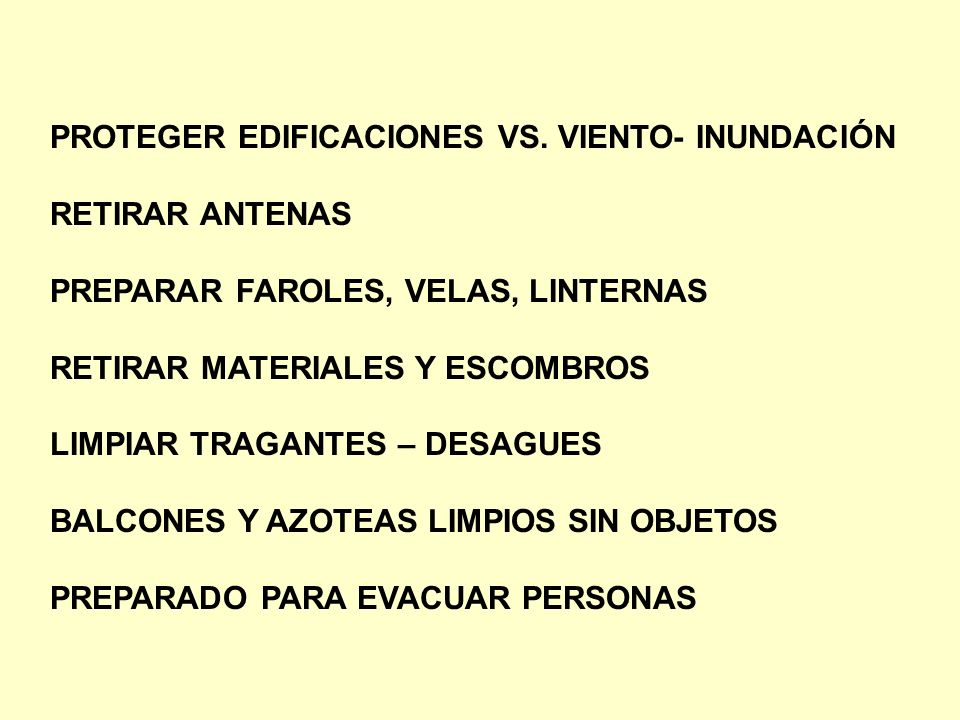 PROTEGER EDIFICACIONES VS. VIENTO- INUNDACIÓN