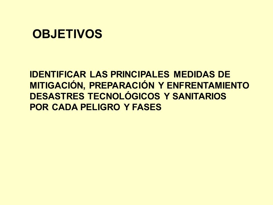 OBJETIVOS IDENTIFICAR LAS PRINCIPALES MEDIDAS DE
