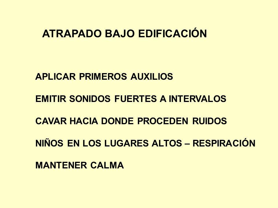 ATRAPADO BAJO EDIFICACIÓN