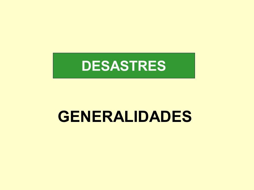 DESASTRES GENERALIDADES
