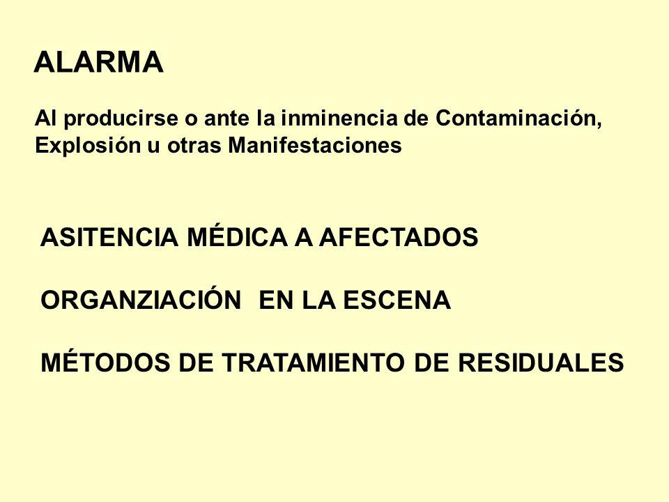 ALARMA ASITENCIA MÉDICA A AFECTADOS ORGANZIACIÓN EN LA ESCENA