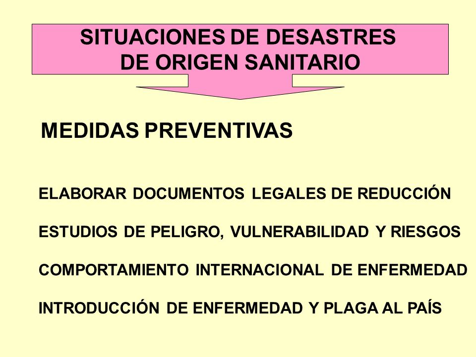 SITUACIONES DE DESASTRES
