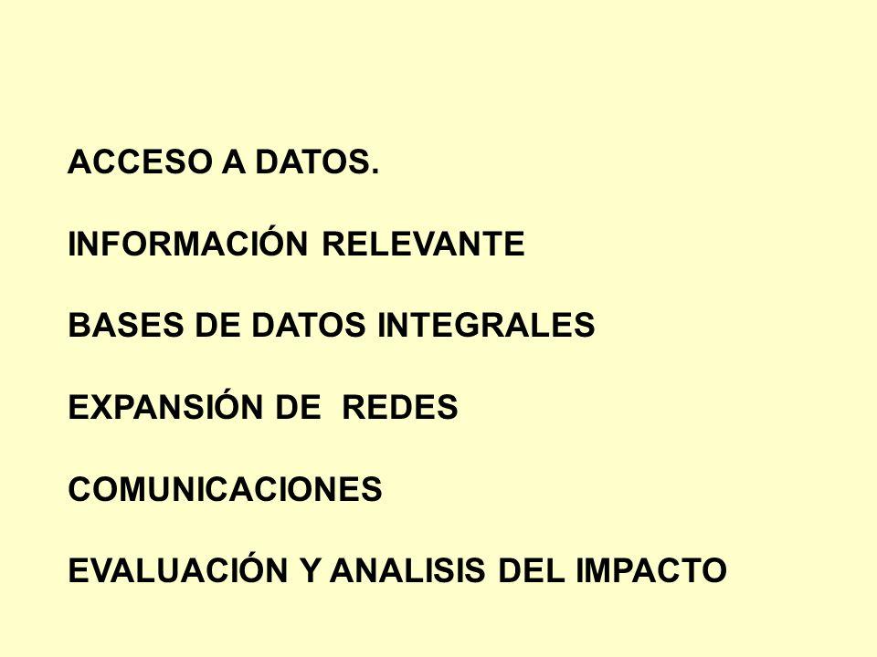 ACCESO A DATOS. INFORMACIÓN RELEVANTE. BASES DE DATOS INTEGRALES. EXPANSIÓN DE REDES. COMUNICACIONES.
