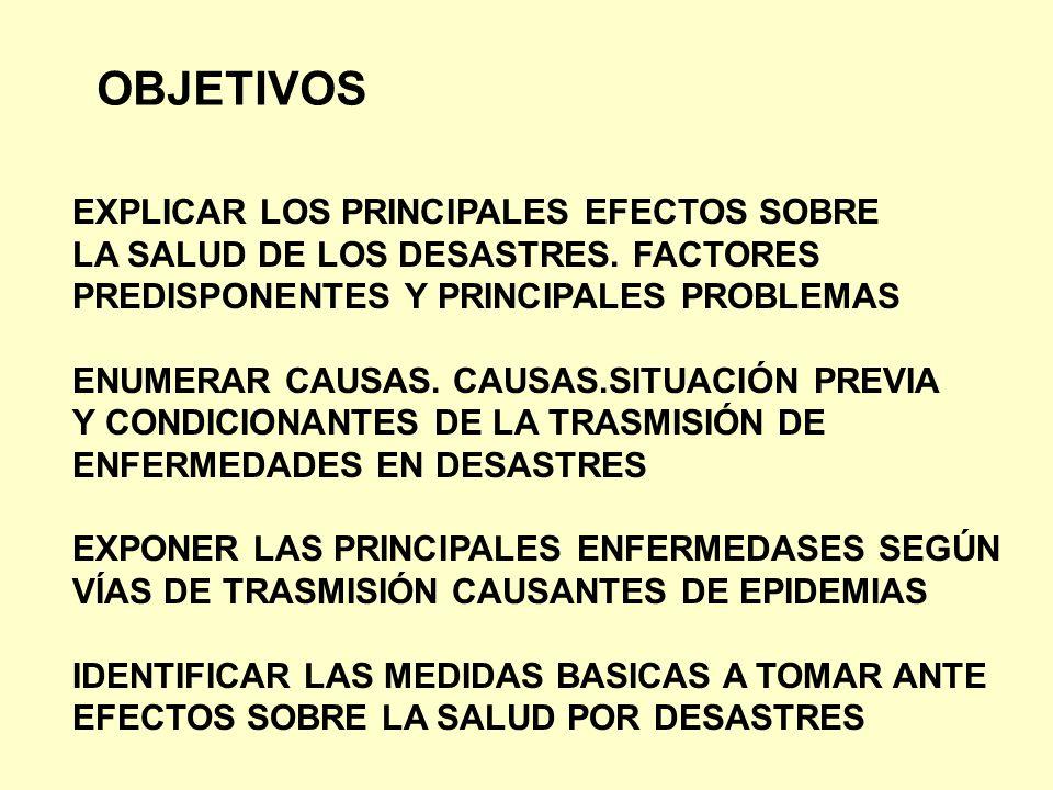 OBJETIVOS EXPLICAR LOS PRINCIPALES EFECTOS SOBRE