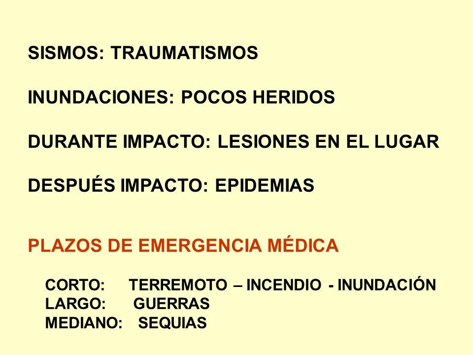 INUNDACIONES: POCOS HERIDOS DURANTE IMPACTO: LESIONES EN EL LUGAR