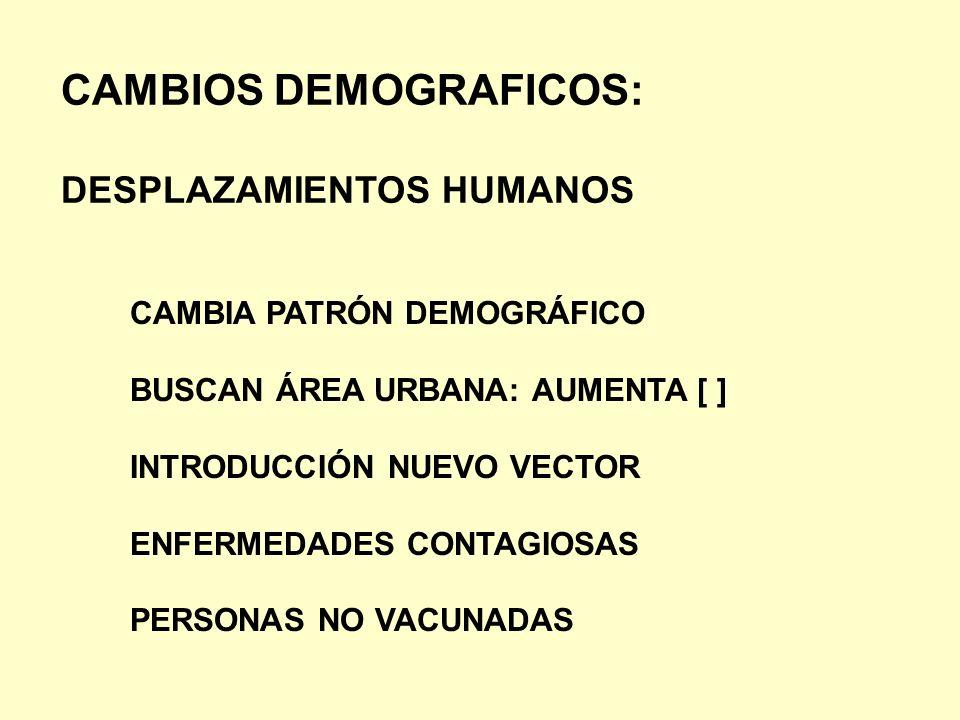 CAMBIOS DEMOGRAFICOS: