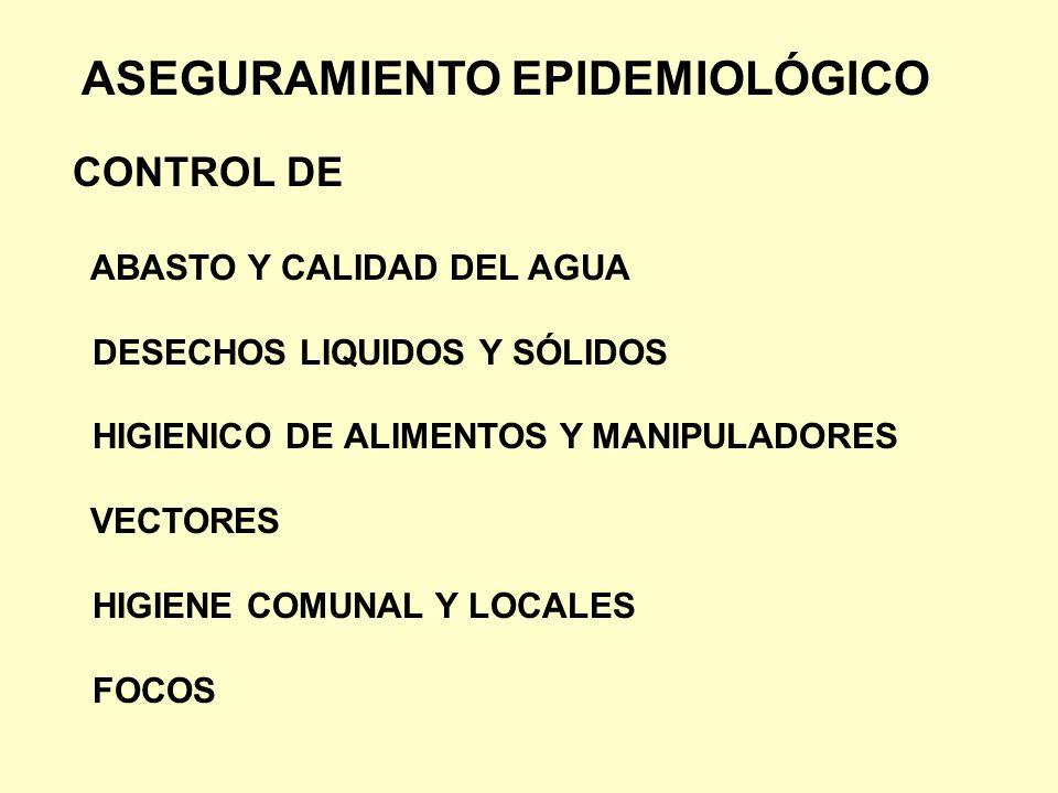 ASEGURAMIENTO EPIDEMIOLÓGICO