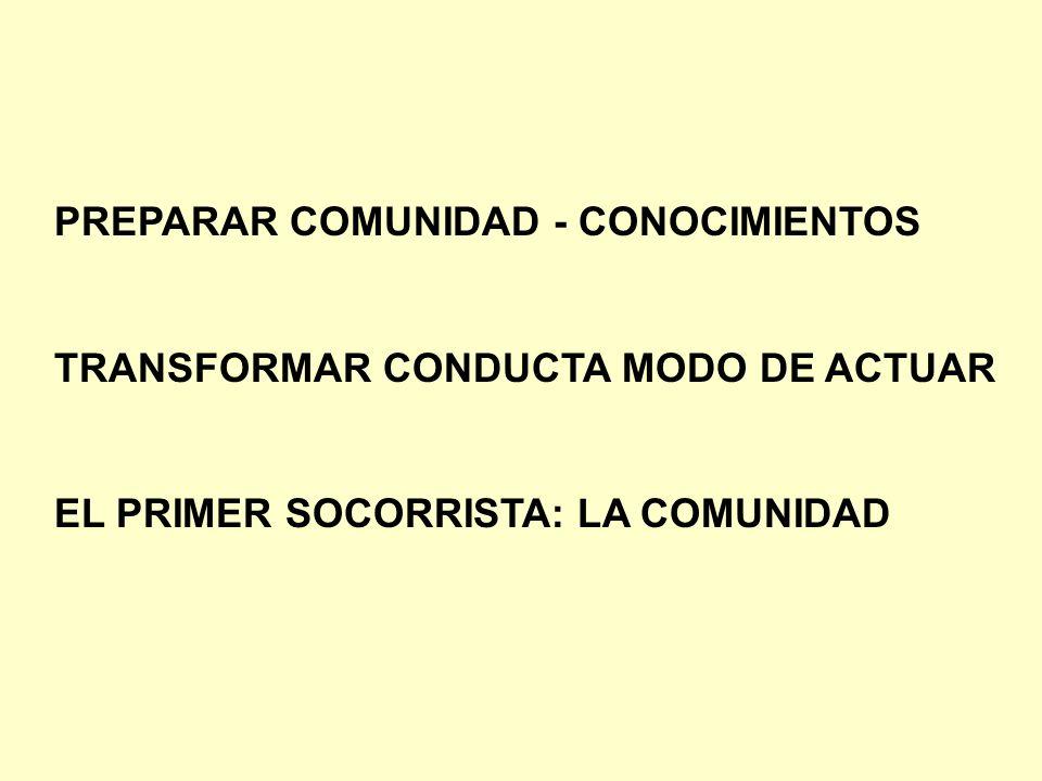 PREPARAR COMUNIDAD - CONOCIMIENTOS