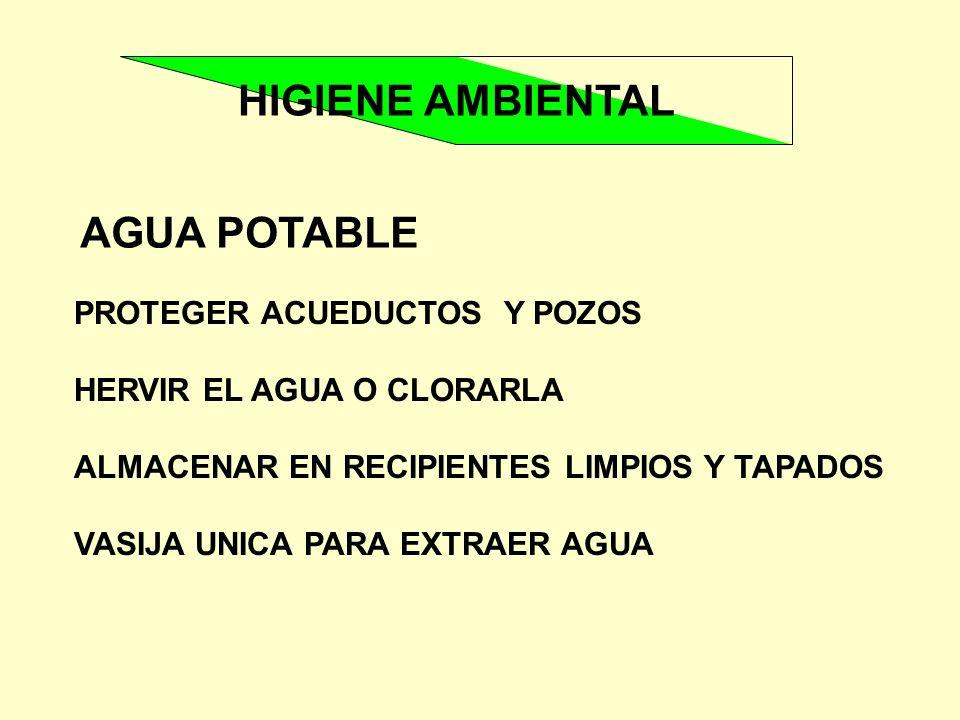 HIGIENE AMBIENTAL AGUA POTABLE PROTEGER ACUEDUCTOS Y POZOS