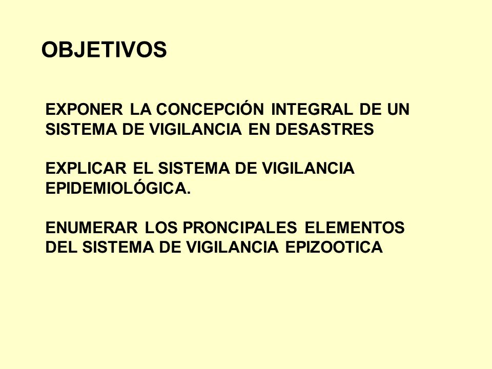 OBJETIVOS EXPONER LA CONCEPCIÓN INTEGRAL DE UN
