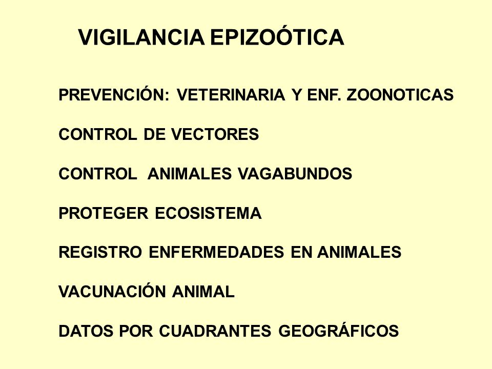 VIGILANCIA EPIZOÓTICA