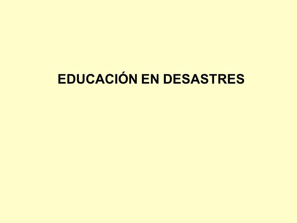 EDUCACIÓN EN DESASTRES