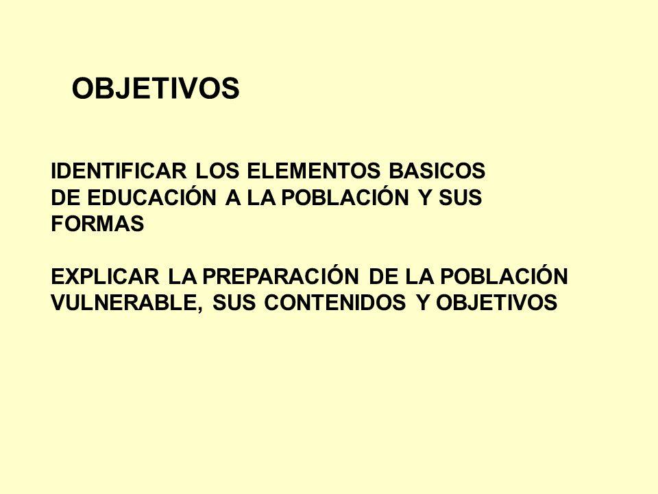 OBJETIVOS IDENTIFICAR LOS ELEMENTOS BASICOS