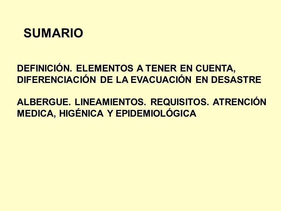 SUMARIO DEFINICIÓN. ELEMENTOS A TENER EN CUENTA,