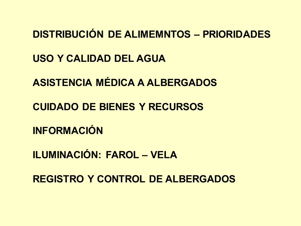 DISTRIBUCIÓN DE ALIMEMNTOS – PRIORIDADES