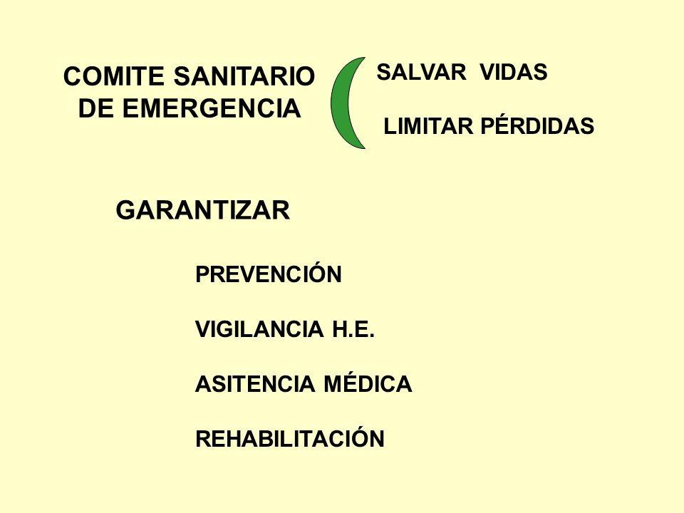COMITE SANITARIO DE EMERGENCIA GARANTIZAR SALVAR VIDAS